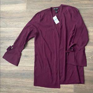 NWT tie cuff cardigan potent purple XL INC Concept